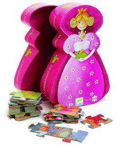 Puzzle per bambini Djeco - La principessa e il suo ranocchio