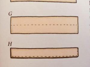 Carta modello delle bretelle del vestito del coniglietto in stoffa