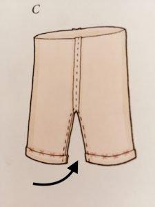 Carta modello del pantalone del coniglietto in stoffa