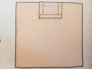 Carta modello della pettorina e della gonna del coniglietto in stoffa