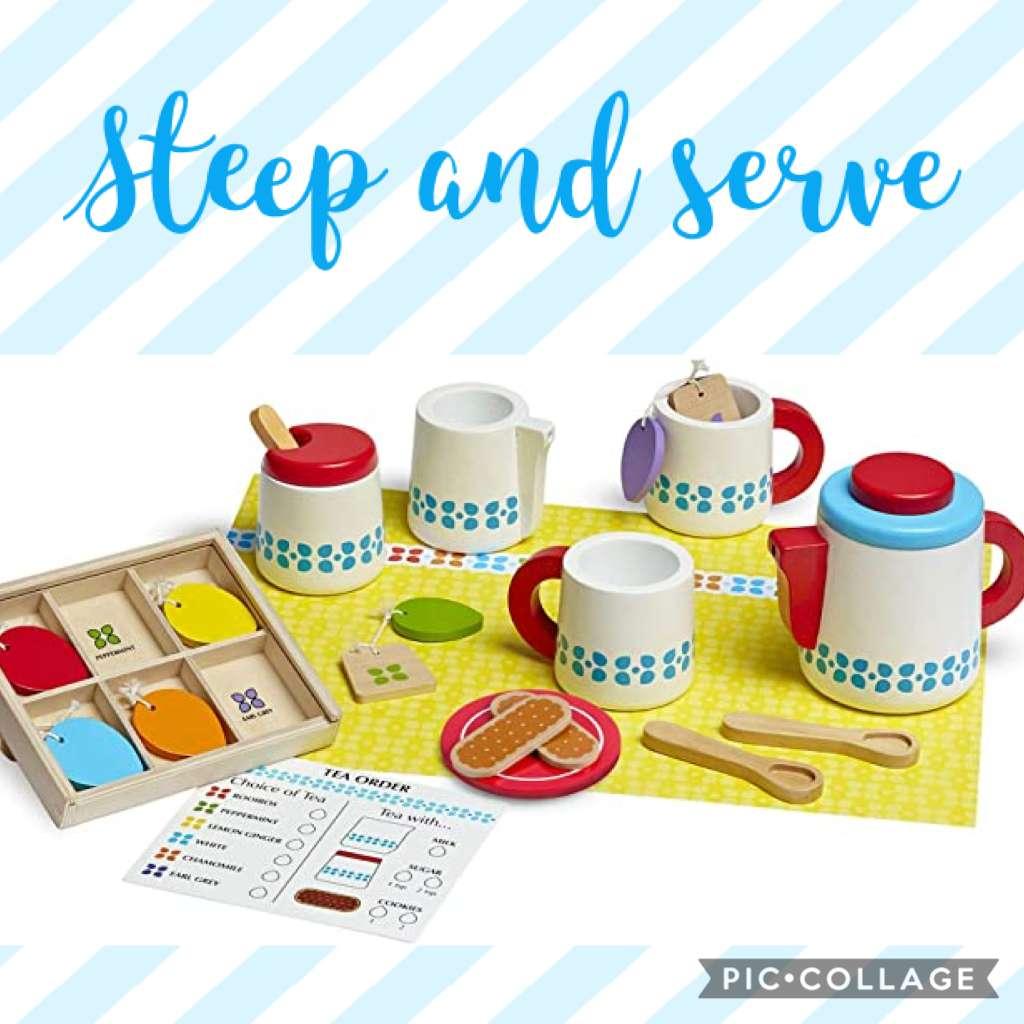 Giochi di ruolo per bambini - Servizio da te Melissa and Doug Steep & Serve